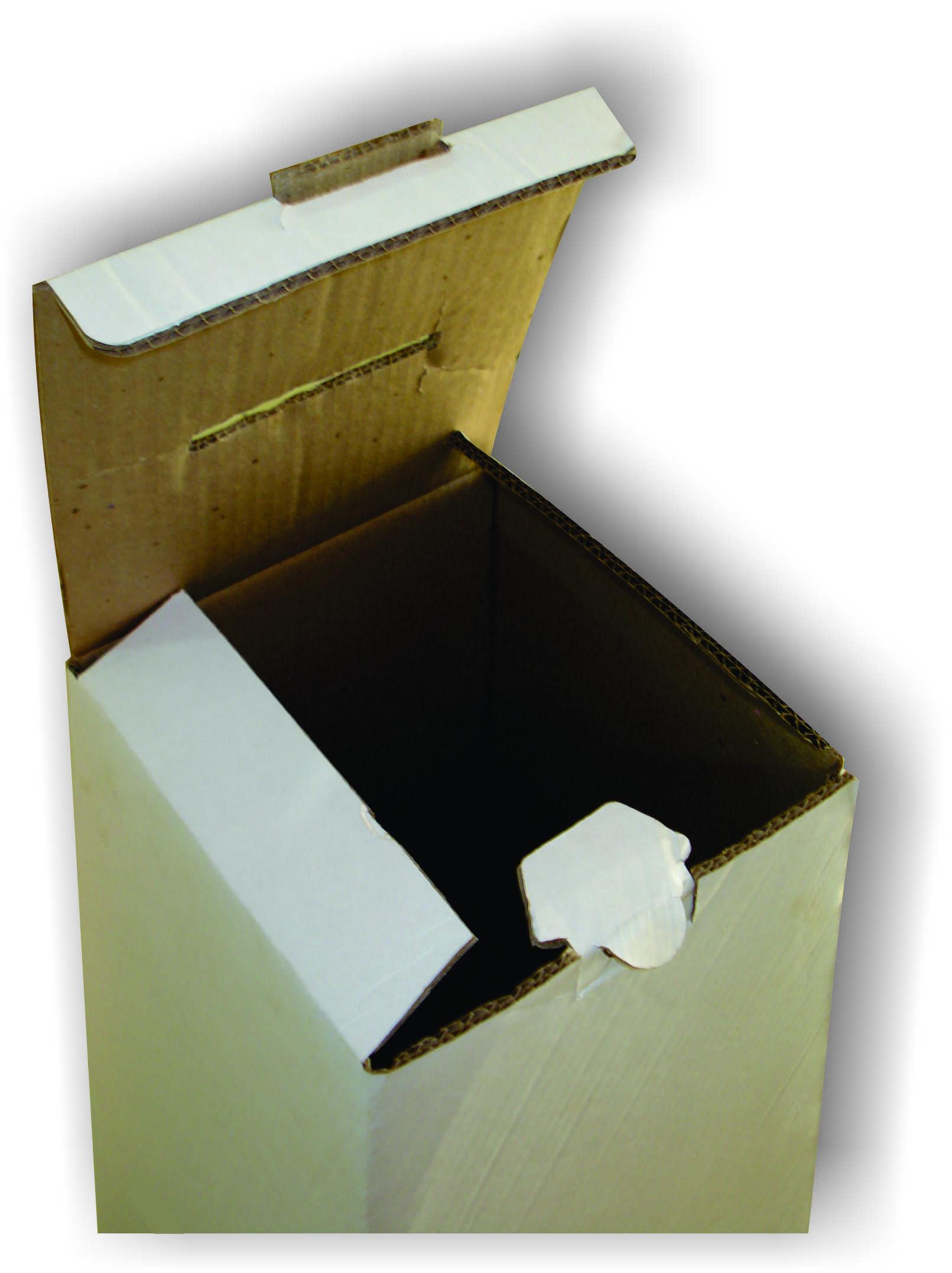 Urna em papelão ondulado
