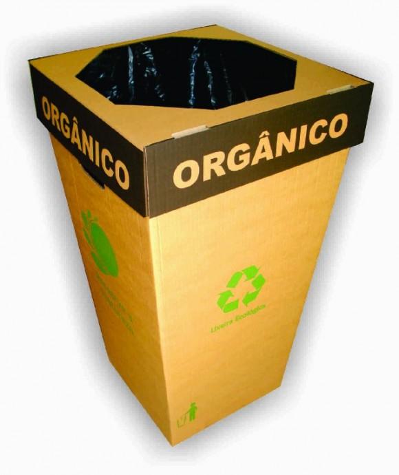 Lixeira Ecológica em Papelão Ondulado